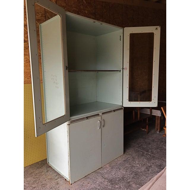 Glass Vintage 60s Medical Cabinet For Sale - Image 7 of 9