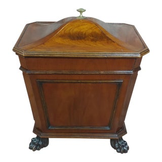19th C. Fabulous English Regency Mahogany Wine Cellarette 1820s For Sale