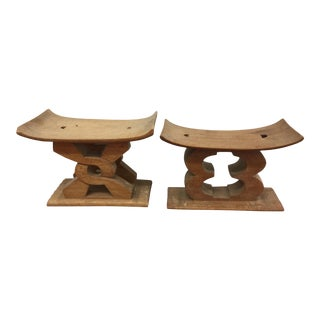 1970s African Ashanti Headrests - a Pair For Sale