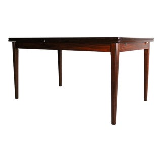 Mid Century Rosewood Extension Dining Table by Skovby For Sale