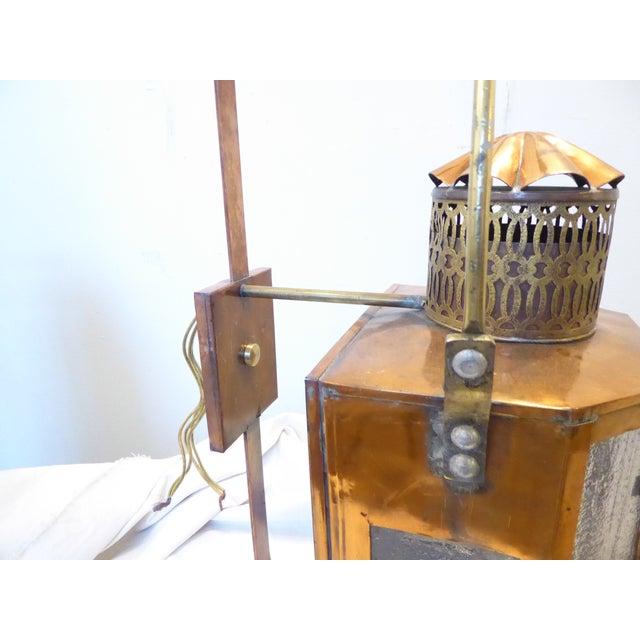 Vintage Copper Lantern Sconces - a Pair For Sale In Portland, ME - Image 6 of 8
