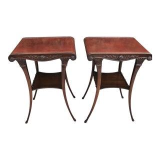 Early 20th Century Zangerle & Peterson Art Nouveau Side Tables - a Pair For Sale