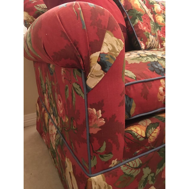 Ruby Red Henredon Sofa For Sale - Image 8 of 13