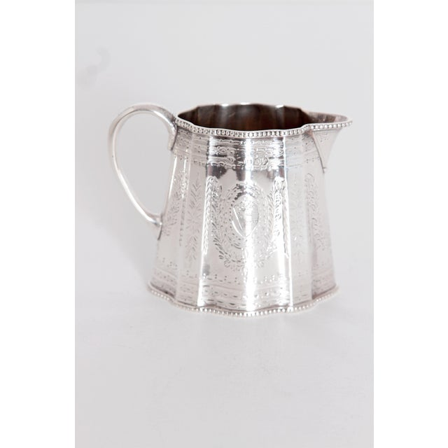 Late 19th Century 19th Century English Sterling Silver 4 Piece Coffee and Tea Service For Sale - Image 5 of 12