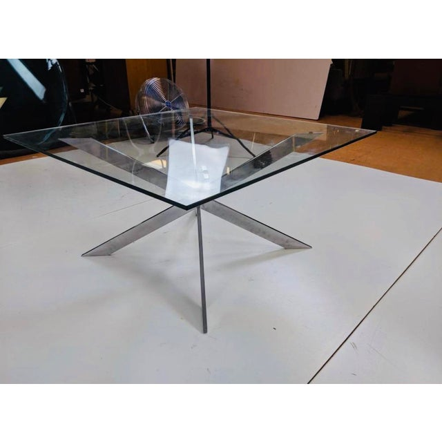 1960s Pace Collection Chrome and Glass Coffee Table Mid Century For Sale - Image 5 of 9