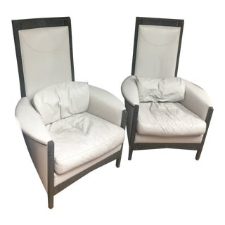 Lounge Chairs by Umberto Asnago for Giorgetti, 1980s - a Pair For Sale