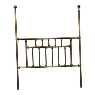 19th Century Victorian Brass Tall Poster Queen Size Headboard For Sale