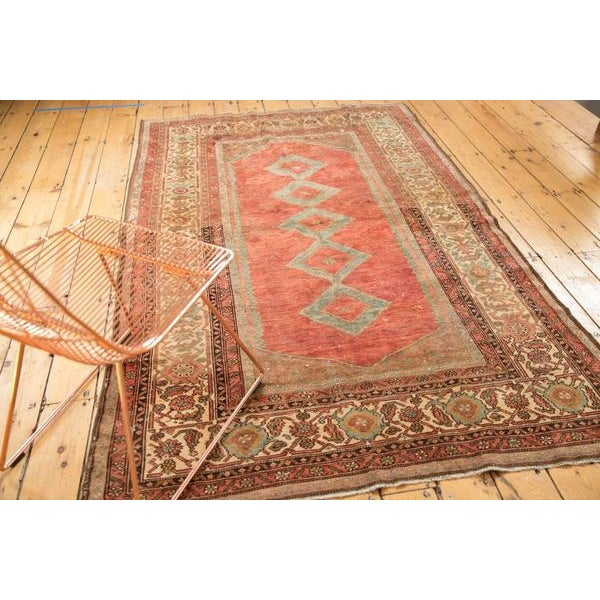 """Shabby Chic Vintage Distressed Malayer Rug - 5' X 7'7"""" For Sale - Image 3 of 13"""