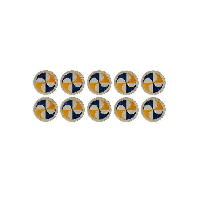 Ceramica Franco Pozzi Rare Set of 10 Gio Ponti for Franco Pozzi Plates For Sale - Image 4 of 4