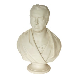 19th Century English Traditional Wedgewood White Porcelain Parian Bust For Sale