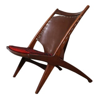 "Mid-Century Modern Fredrik Kayser Krysset ""The Cross"" Teak Lounge Chair For Sale"