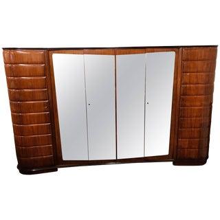 Vittorio Dassi Moderne Itallion Large Custom Art Deco Armoire Six Doors For Sale