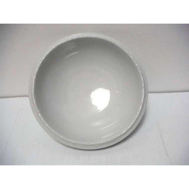 Rustic Early Large English Ironstone Serving Bowl For Sale - Image 3 of 6