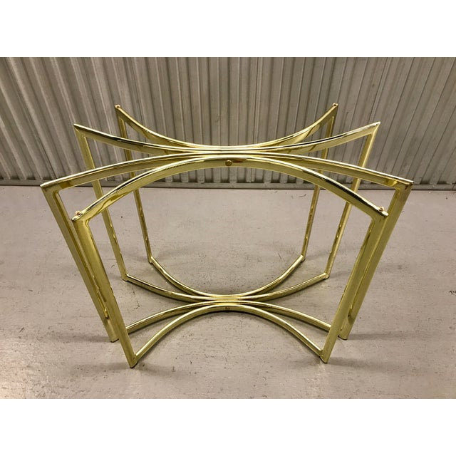Hollywood Regency Brass Table Base - Image 6 of 9