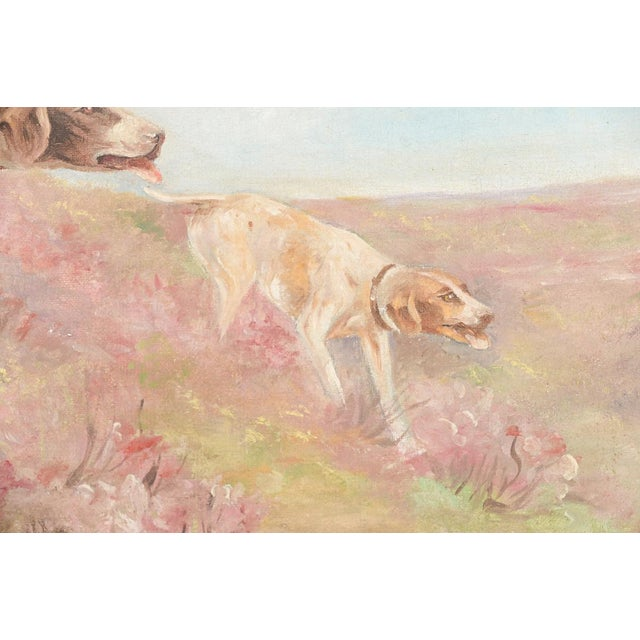 Hunting Hounds Oil Painting by L. Chantrelle For Sale - Image 4 of 8