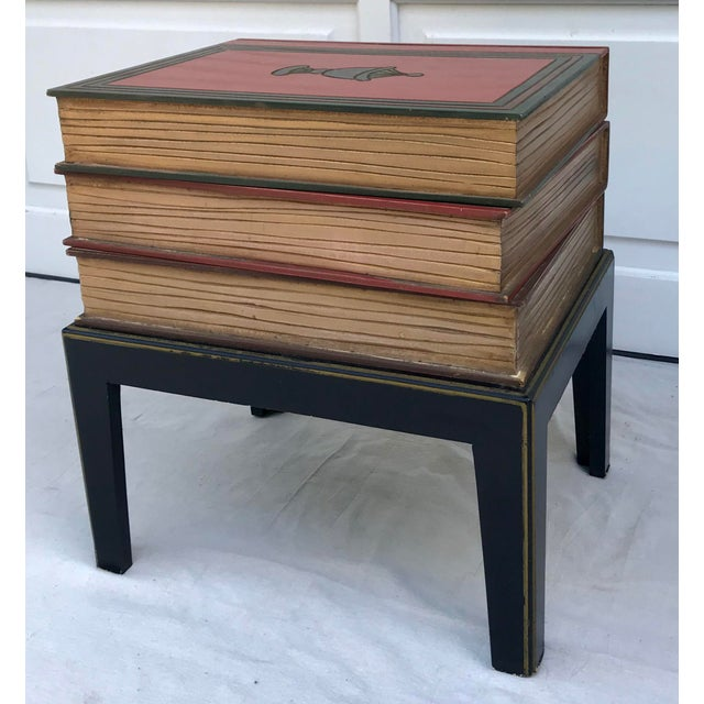 1960s Vintage Figurative Faux Stack of Books Side Table For Sale - Image 5 of 6