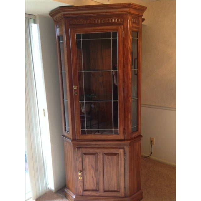 Pennsylvania House Lighted Corner China Cabinet - Image 6 of 6