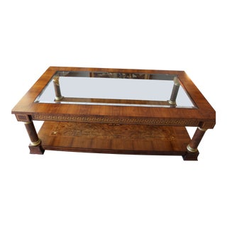 1960s Empire Style Coffee Table For Sale