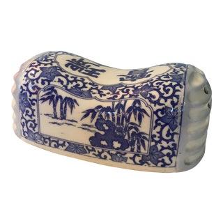 Antique Glazed Ceramic Chinese Opium Headrest