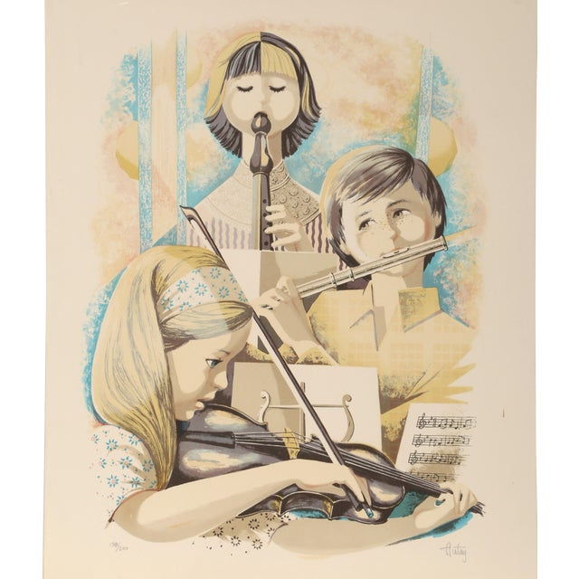 Autay - Music Class Lithograph For Sale