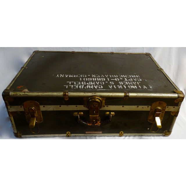 Vintage World War II Soldier's Trunk - Image 4 of 4
