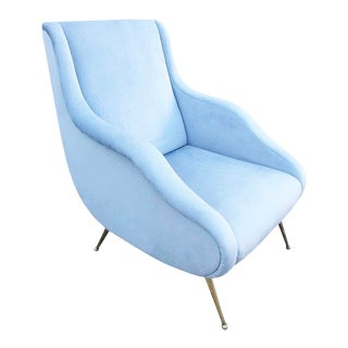 Carlo De Carli Attributed Lounge Chair, Italy, 1960s For Sale