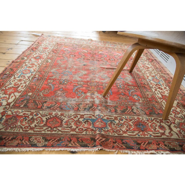 "Antique Distressed Malayer Rug - 5'1"" X 5'7"""
