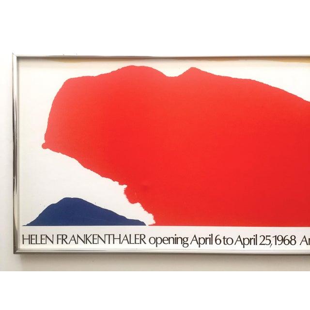 This Helen Frankenthaler rare vintage 1974 Mid Century Modern Abstract Expressionist lithograph print framed Emmerich...