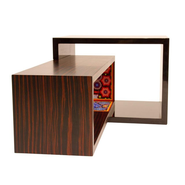 Contemporary rosewood and bead coffee table by Alire De Alvarez For Sale In New York - Image 6 of 6