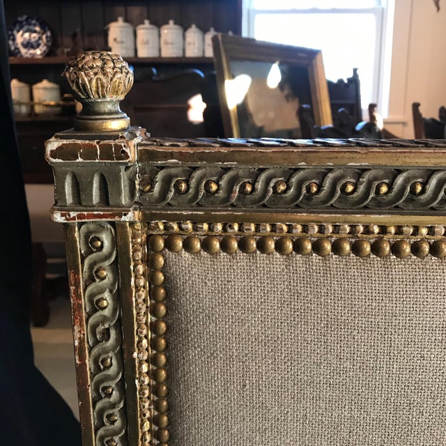 19th Century Louis XV Gray and Gilded Twin Bedframe For Sale - Image 10 of 13