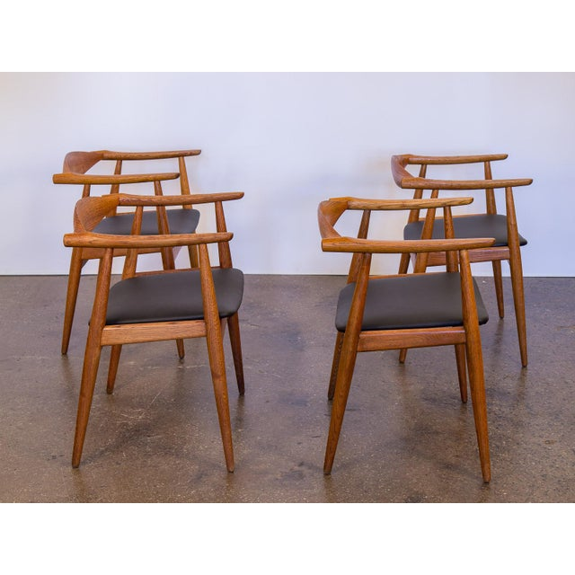 Set of Four Wegner CH-35 Armchairs - Image 4 of 11