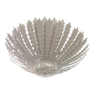 Aerin Hampton Large Plaster White Pendant