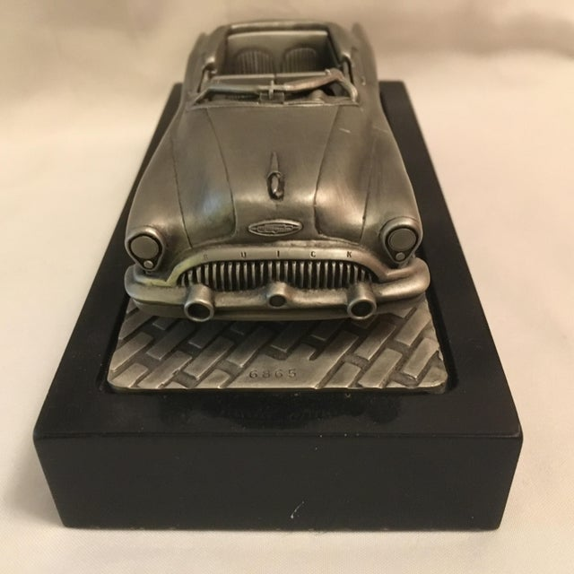 1953 C.Rufo Buick Convertiable Pewter Model Car For Sale - Image 4 of 13
