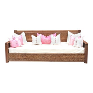 Natural Grand Jodhpur Floral Daybed For Sale