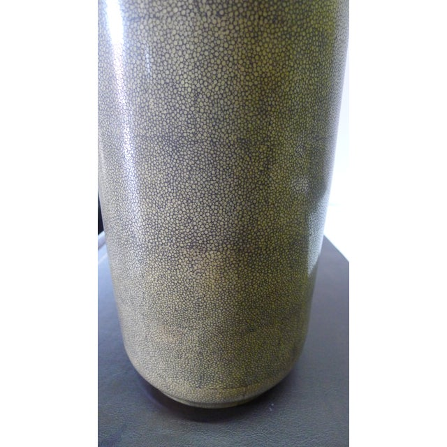 Late 20th Century Shagreen Texture Modern Chinese Vase For Sale - Image 5 of 10