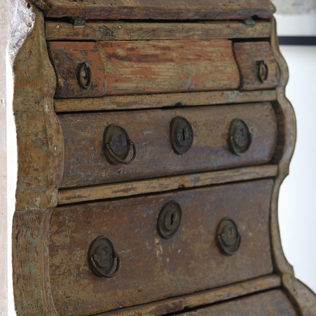 Metal Dutch Rococo Painted Desk For Sale - Image 7 of 9