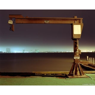 "Contemporary Night Photograph ""Large Boat Winch"" by John Vias For Sale"