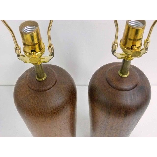 Danish Modern Teak Table Lamps - Pair - Image 3 of 6