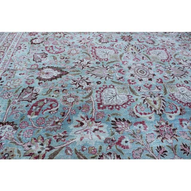 Vintage Mashad Wool Rug - 9′1″ × 12′ For Sale In Los Angeles - Image 6 of 8