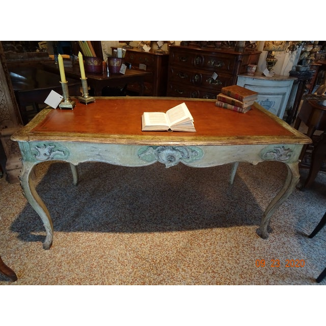 19th Century French Writing Desk With Leather Top For Sale - Image 12 of 13