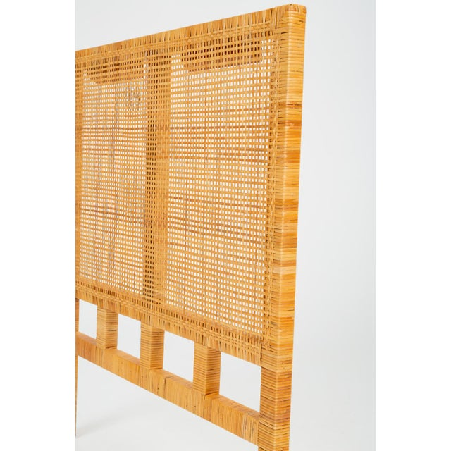 Wood Single Woven Cane Twin Headboard by Danny Ho Fong for Tropi-Cal For Sale - Image 7 of 10