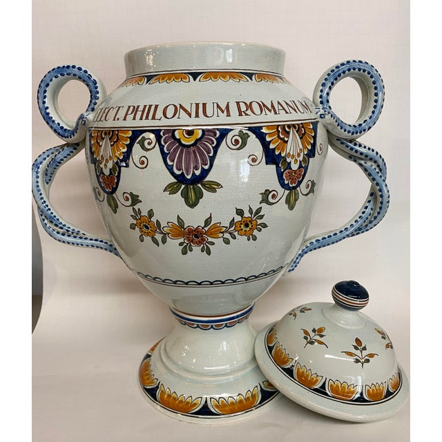 1920s Delft Apothecary Urn For Sale - Image 6 of 11