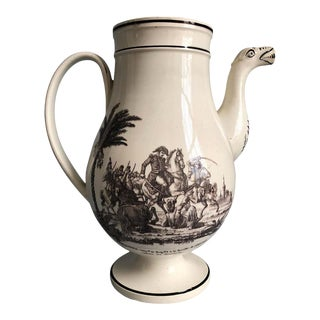 1820 Creil Et Montereau Napoleonic Military Tea or Coffee Pot For Sale