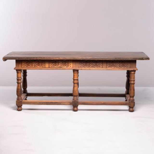Portuguese All Original 18th Century Carved Walnut Table For Sale In Detroit - Image 6 of 13