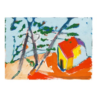 'Carmel Cottage' by Robert Canete, California Expressionist, Stanford For Sale