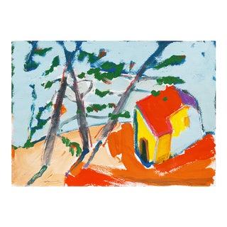 Robert Canete, 'Carmel Cottage', Post-Impressionst Seascape For Sale