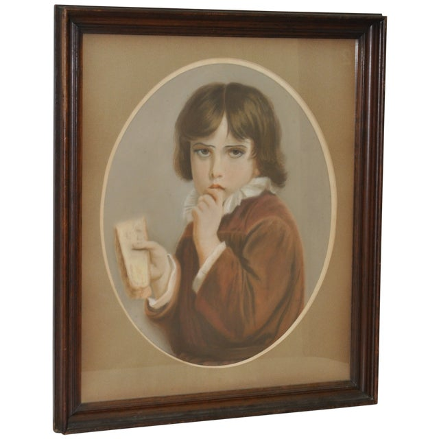 19th Century Pastel Portrait of a Young Boy - Image 1 of 5