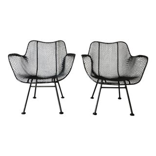 1950s Vintage Russell Woodard Sculptural Iron Lounge Chairs - Set of 2