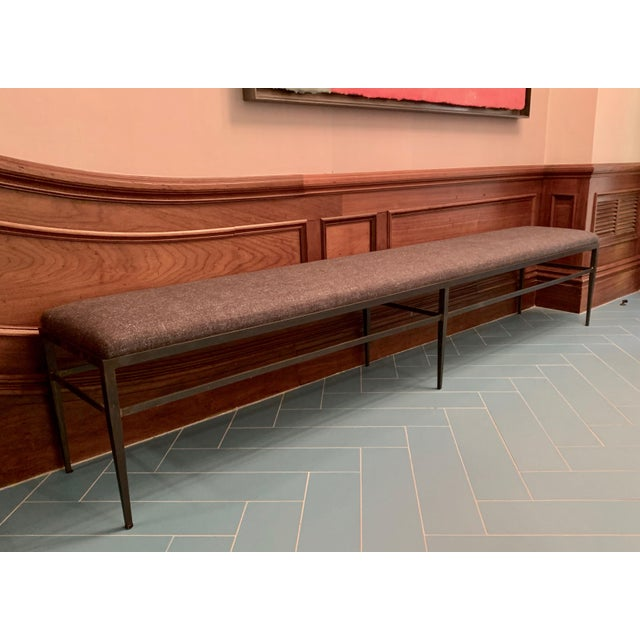 Iron Vintage Custom Hall Bench For Sale - Image 7 of 7