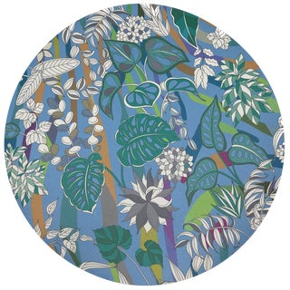 "Nicolette Mayer Sabi Jungle Savuti 16"" Round Pebble Placemats, Set of 4 For Sale"